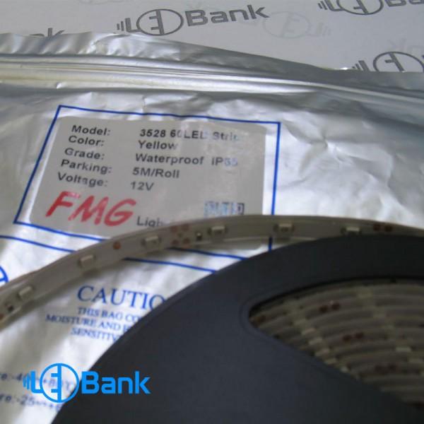 ال ای دی نواری 3528-12V-60L IP 65 زرد