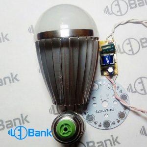 قاب لامپ ال ای دی حبابی 7 وات آلومینیومی Bulb7W-AL