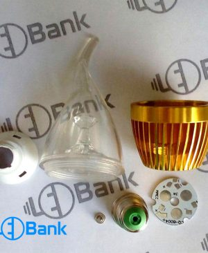 فریم لامپ شمعی طرح اشکی طلایی