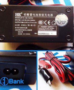 شارژر باتری 14.7 ولت 3 آمپر اتوماتیک با کنترل جریان