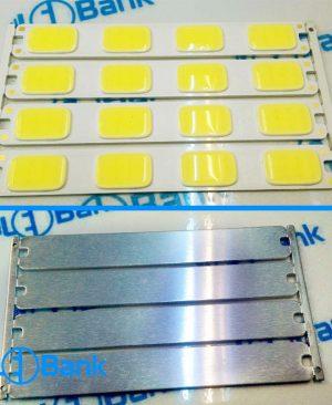 LED COB خطی 12 ولت 4 وات سفید مهتابی، تکه ای