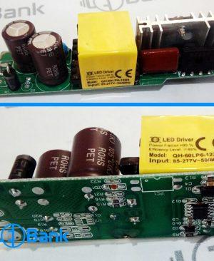 درایور led cob بردی 50 وات سان مدل QH-60LP6-12×5