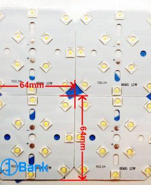 پی سی بی ال ای دی دار 12 وات مونتاژ ماشینی مطابق با لنز های استاندارد