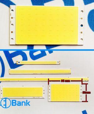 ال ای دی COB خطی 12 ولت سایز 50×95 میلیمتر دو سر لحیم