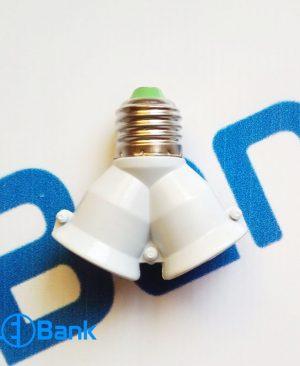 تبدیل لامپ سرپیچ معمولی 1 به 2