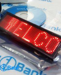 نیم تگ (اتیکت LED) قرمز - بج سینه