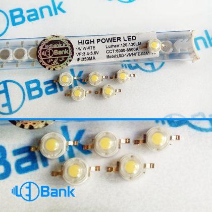 پاور LED سفید 1 وات 33 میل120-130 لومن