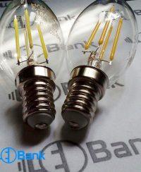 لامپ فيلامنتی ال ای دی اشکی (شمعی) 4 وات هالی استار