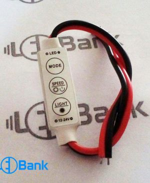 کنترلر مینی تک رنگ 6 آمپر 3 دکمه نوار LED کنترلر دستی نور و سرعت