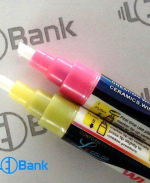 ماژیک فلورسنت قلم نازک (5 میلیمتر) و قلم درشت (8 میلیمتر)