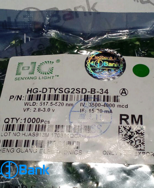 ال ای دی اوال سبز پارت نامبر HG-DTYSG2SD-B-34