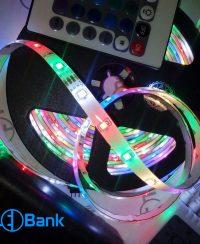 پکیچ ریسه LED نواری هفت رنگ چیپ 2835 با قابلیت کنترل رنگ ها