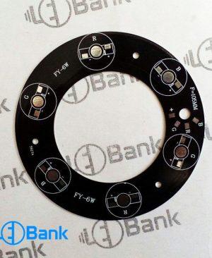 پی سی بی RBG گرد 6 وات 105mm دور لوله مناسب پروژکتورهای آب نما