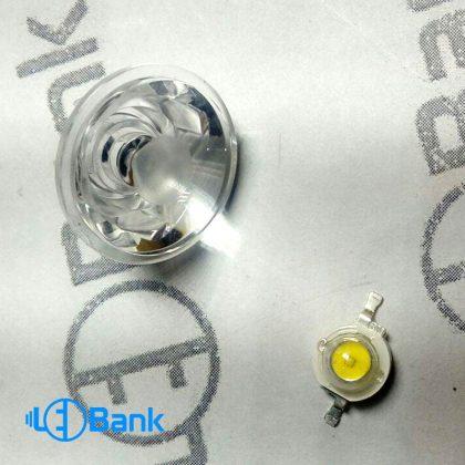 لنز 3 درجه پاور ال ای دی با پرتاب حداکثری نور