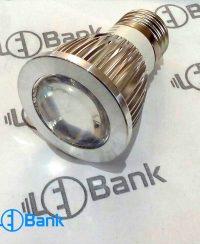قاب لامپ ال ای دی لنز دار 3 وات COB رفلکتوردار هالوژنی سرپیچ e27