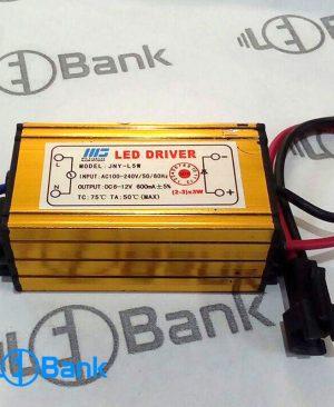 درایور LED ضد آب 3×(3×2) برای روشن کردن ال ای دی 3 وات