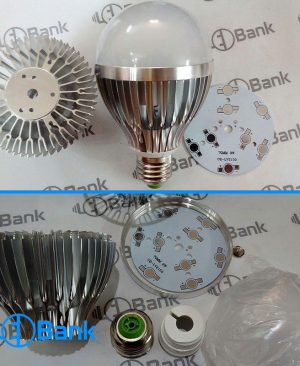 فریم آلومینیومی مونتاژ لامپ ال ای دی 9 وات سنگین