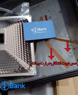 قاب پروژکتور LED دو چیپ مس دار رفلکتور دار واشر آلن خور پایه مستحکم (3400 گرم)