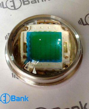 لنز ال ای دی محدب شیشه ایی مناسب پروژکتور خیابانی با رینگ و هولدر استاندارد