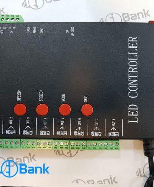 کنترل 5 ولت تحت نرم افزار ال ای دی پیکسل آی سی دار T8000A