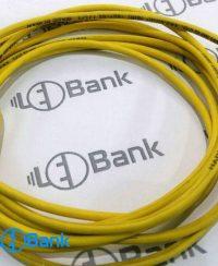 سیم برق زرد جهت اتصال تغذیه به ماژول های ال ای دی تابلو روان نمره 1.5