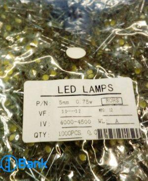 ال ای دی کلاهی سفید مهتابی 2 چیپ LED LAMPS