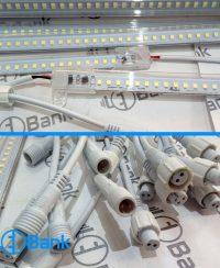 چراغ ال ای دی خطی 1 متری 220 ولت پوشش ضد آب چیپ 2835 مگا کره