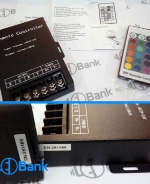 ریموت کنترلر ال ای دی آر جی بی ورودی 5-12 ولت
