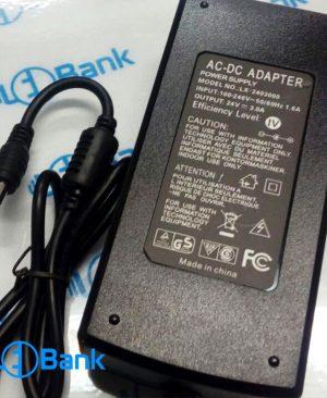 آداپتور سوئیچینگ 24 ولت 3 آمپر بین راهی HP همراه با کابل پاوری