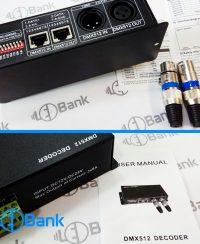 کنترل دیکودر DMX512 ال ای دی به صورت دستی قابلیت شبکه 24 آمپر