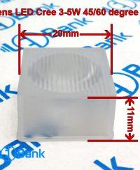 لنز مشجر ال ای دی کری 3 الی 5 وات مربع 20×20 میلیمتر زاویه 60/45 درجه