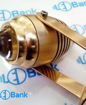 قاب پروژکتور ال ای دی کری Jet Light توان 3 الی 5 وات رنگ طلایی ضد آب لنز دار
