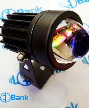 قاب جت لایت پروژکتور ال ای دی کری 3 الی 5 وات ضد آب لنز شیشه ای محدب پرتابی مناسب استفاده برای نمای بیرونی