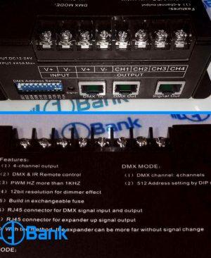 حرفه ایی ترین کنترلر DMX 512 دیکدر ال ای دی