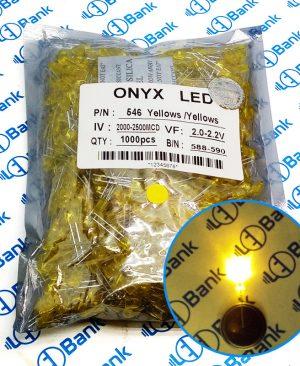 ال ای دی اوال زرد برند اونیکس مخصوص تابلو ال ای دی ثابت
