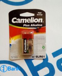 باتری کتابی 9 ولت الکالاین قرمز Plus Alkaline Camelion