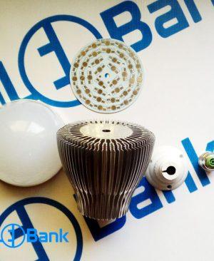 قاب لامپ ال ای دی حبابی 36 وات پره دار آلومینیوم خالص (جدید)