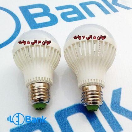 قاب لامپ ال ای دی حبابی با شیار جهت سنسور دارکردن و دفع حرارت