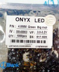 ال ای دی کلاهی سبز 2 چیپ برند ONYX