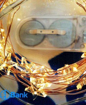 ریسه ال ای دی سیمی ستاره ایی سفید آفتابی باتری خور