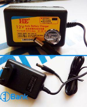 شارژر باتری 12 ولت اتوماتیک خروجی 13.8 ولت با چراغ نمایشگر و سوکت آداپتوری