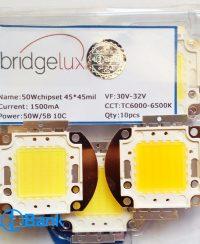 ال ای دی SMD سفید آفتابی و مهتابی 50 وات 45 میل Bridgelux آمریکا