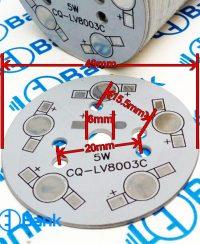 پی سی بی پاور ال ای دی 5 وات کد CQ-LV8003C قطر 49 میلیمتر
