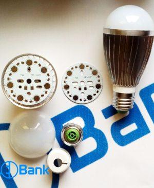فریم آلومینیومی لامپ ال ای دی حبابی 7 الی 9 وات