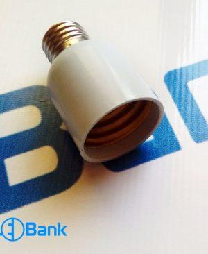 تبدیل سرپیچ لامپ معمولی e27 به e40