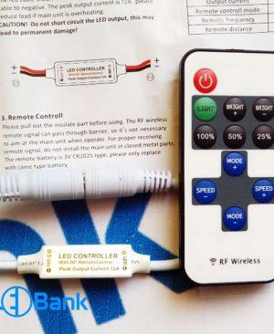 کنترلر ال ای دی تک رنگ با قابلیت افکت گوناگون، دیمر و ریموت رادیویی