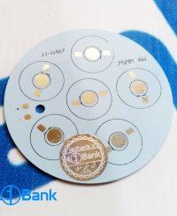 پی سی بی LED آلومینیوم گرد 6 وات قطر 75 میلیمتر کد JJ-11517