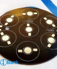 پی سی بی LED آلومینیوم گرد 7 وات قطر 75 میلیمتر مشکی کد JJ-2555