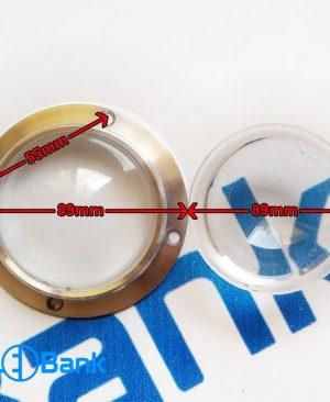 لنز شیشه ایی قطر ۶۶ میلیمتر تو گود با هولدر مناسب پروژکتور های خیابانی