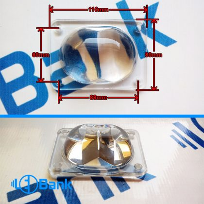 لنز شیشه ایی تو گود مناسب استفاده برای پروژکتور های ال ای دی خیابانی